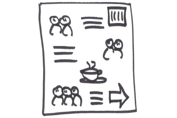 tegninger til hjælp ved gennemgang af møder